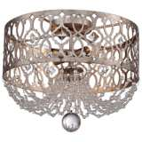 "Jessica McClintock Home Lucero 16"" Wide Gold Ceiling Light"