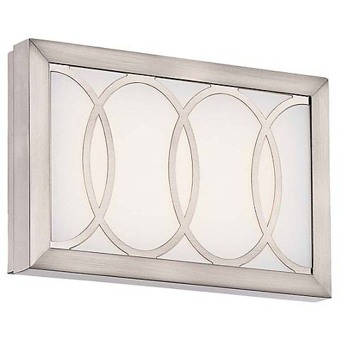 """Minka Celice 9"""" Wide LED Etched White Wall Sconce"""
