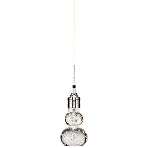 "Elan Xela LED 7"" High Chrome and Crystal Mini Pendant"