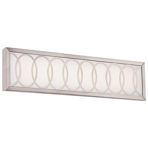 "Celice 24"" Wide Etched White LED Bath Light"