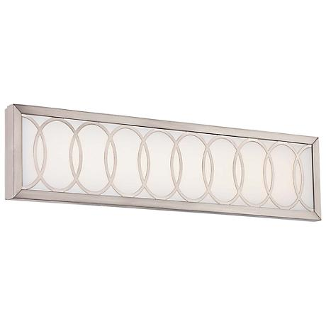 "Minka Celice 24"" Wide LED Etched White Bath Light"
