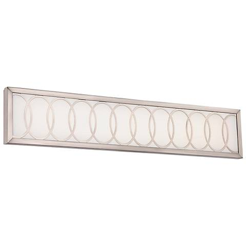 "Minka Celice 30"" Wide LED Etched White Bath Light"