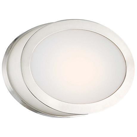 "Minka Pearl 7 1/4"" Wide LED Polished Nickel Wall Sconce"