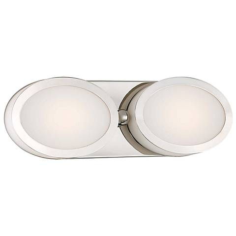 "Minka Pearl 15 1/2"" Wide LED Polished Nickel Bath Light"
