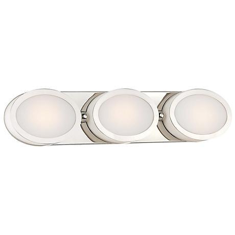 """Minka Pearl 23 3/4"""" Wide LED Polished Nickel Bath Light"""