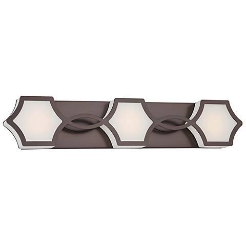 """Minka Vestige 26 1/2"""" Wide LED Bronze Bath Light"""