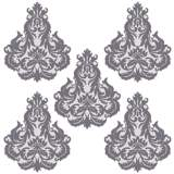 Brocade Light Plum and Gray Wall Decal