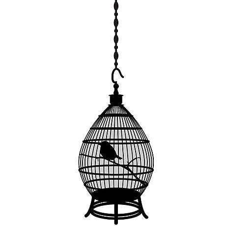 Round Bird Cage Black Wall Decal