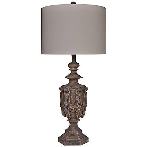Crestview Collection Elhoff Antique Urn Table Lamp