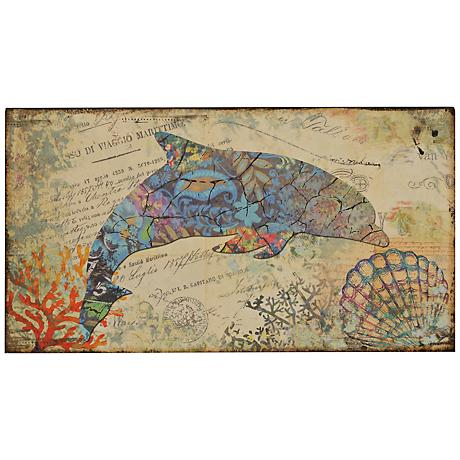 "Nautical Dolphin 36"" Wide Wall Art"