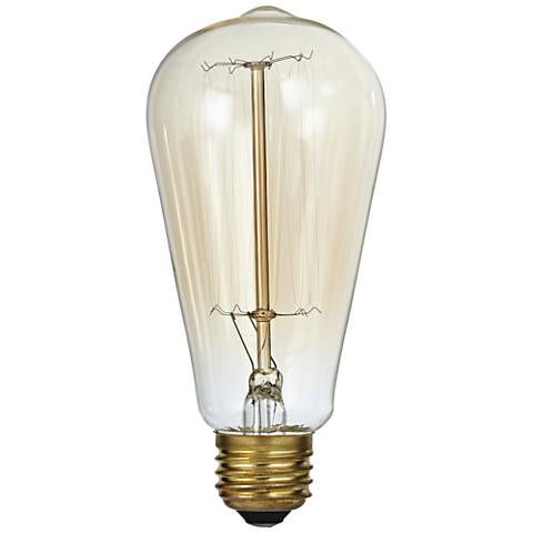 Amber Tinted Clear Glass 60 Watt Edison Style Light Bulb