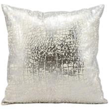 "Kathy Ireland Memories 18"" Square Silver Pillow"