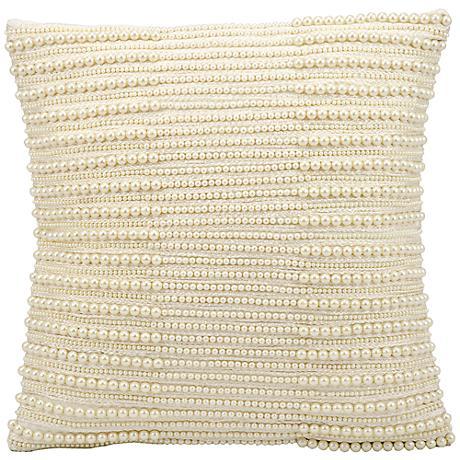 "Kathy Ireland North Shore 16"" Square Ivory Pillow"