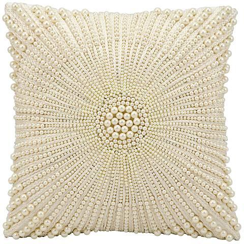 "Kathy Ireland Wonder 12"" Square Ivory Pillow"