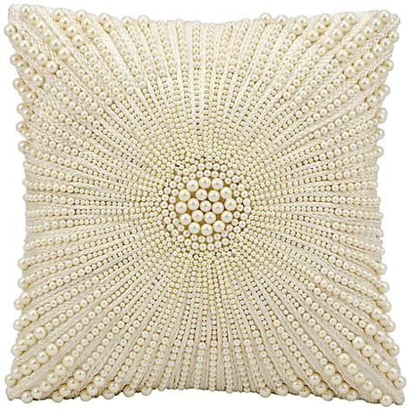 "Kathy Ireland Wonder 12"" Square Ivory Pillow"