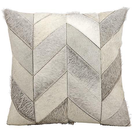 "Kathy Ireland Heritage 20"" Square Gray Pillow"