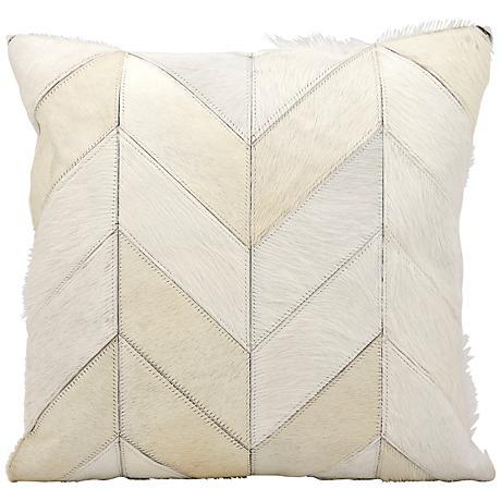 """Kathy Ireland Heritage 20"""" Square White Pillow"""