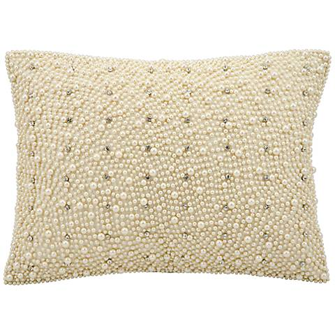 "Kathy Ireland Spree 12"" x 16"" Ivory Accent Pillow"
