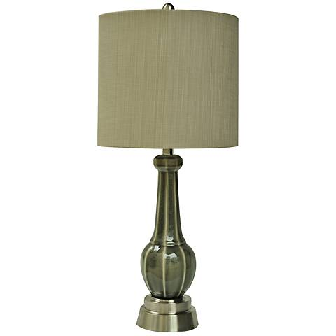 Crestview Collection Chesapeake Gray Ceramic Table Lamp