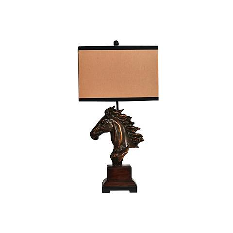 Crestview Collection Running Free Bronze Horse Table Lamp