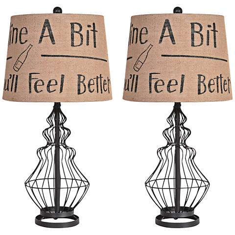 Crestview Collection Wine Country Table Lamp Set.