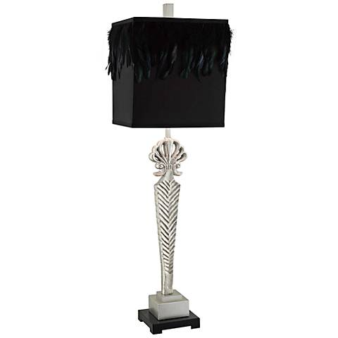 Crestview Collection Alexandria Silver Metal Table Lamp