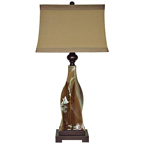 Crestview Collection Canyon Creek Ceramic Table Lamp