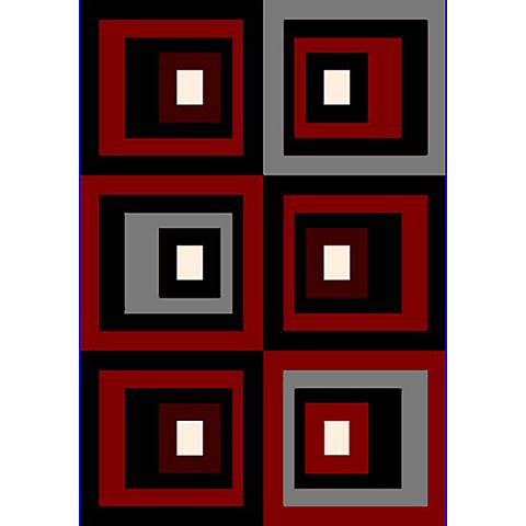 Cristall Studio Red 10770 Area Rug