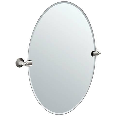 "Gatco Satin Nickel Max 23 1/2"" x 26 1/2"" Wall Mirror"