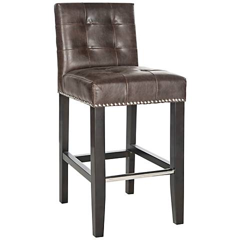 "Grainton 26"" Brown Faux Leather Armless Counter Stool"