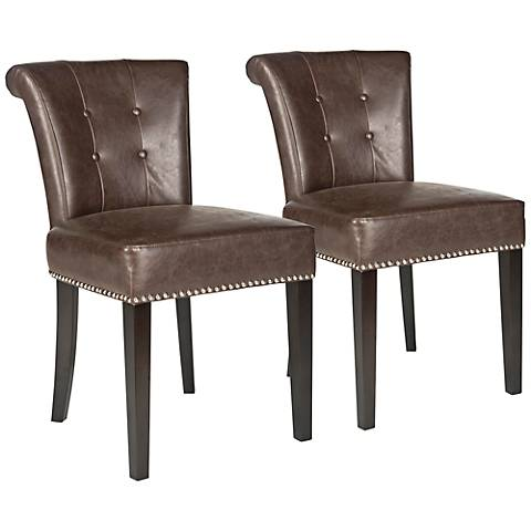 Set of 2 Pervical Bonded Leather Dining Chair