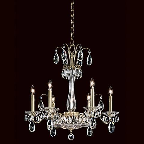 "Schonbek Fontana Luce 24"" Wide Gold Crystal Chandelier"