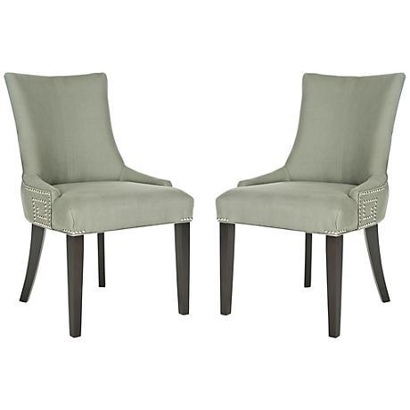 Set of 2 Villota Granite Linen Side Chair