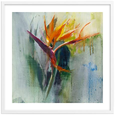 """Bird of Paradise I 30"""" Square Framed Floral Wall Art"""