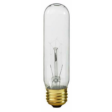 Satco 60 Watt Clear Glass Tubular Bulb