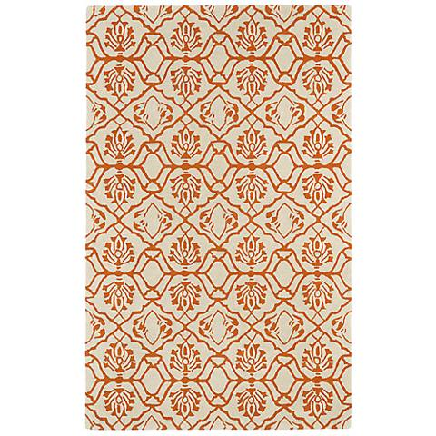 Kaleen Evolution EVL01-89 Orange Wool Area Rug