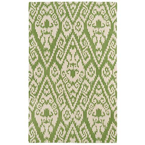 Kaleen Evolution EVL02-50 Green Wool Area Rug