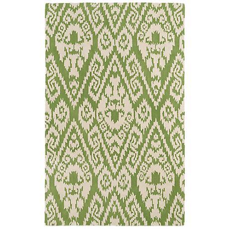 Kaleen Evolution EVL02-50 Green Wool Area Rug