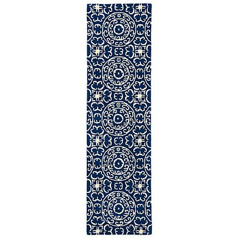 Kaleen Evolution EVL03-22 Navy Wool Area Rug