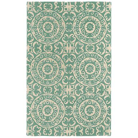 Kaleen Evolution EVL03-88 Mint Wool Area Rug