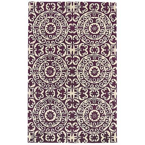 Kaleen Evolution EVL03-95 Purple Wool Area Rug