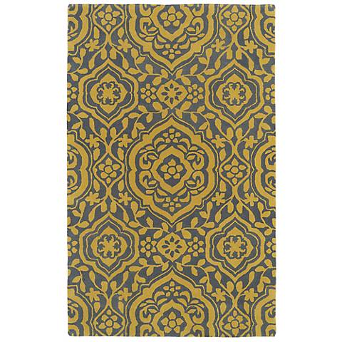 Kaleen Evolution EVL04-28 Yellow Wool Area Rug