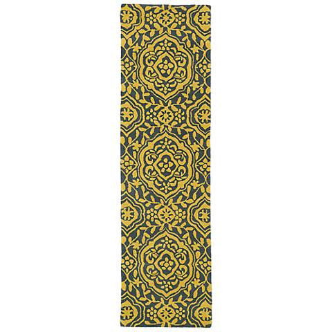 Kaleen Evolution EVL04-28 Yellow Wool Area Rug