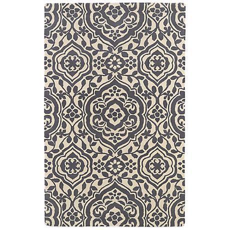 Kaleen Evolution EVL04-75 Gray Wool Area Rug