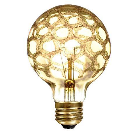 Amber Marble 40 Watt G-25 Light Bulb