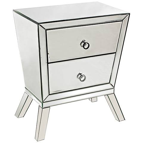Mirrored Collection 2-Drawer Accent Cabinet