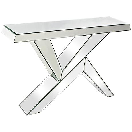 Juxtaposed Angles Collection Mirror Console Table