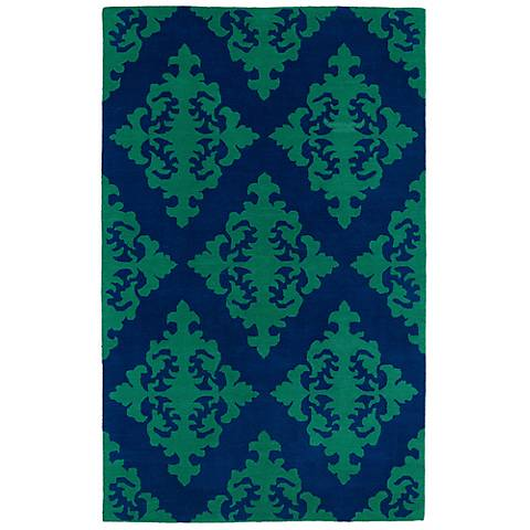 Kaleen Evolution EVL05-22 Navy Wool Area Rug