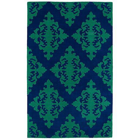 Kaleen Evolution EVL05-22 Navy Wool Area Rug