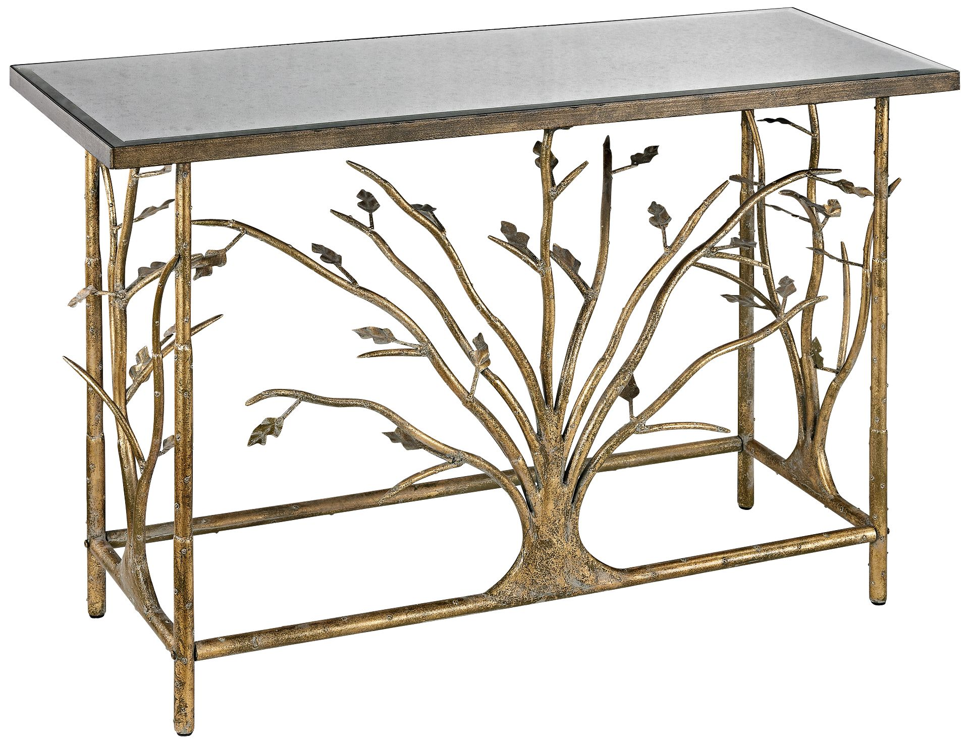 High Quality Branch Collection Gold Leaf Console Table